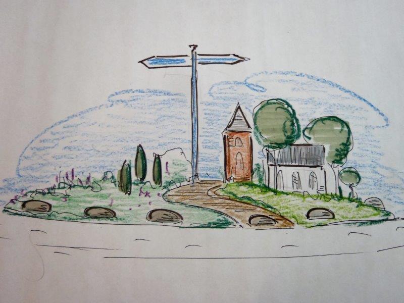 Aanzicht Rotonde Oosterhesselen